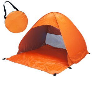 2-3 Person Automatic Pop Up UV Sun Shelter Outdoor Camping Tent - Orange