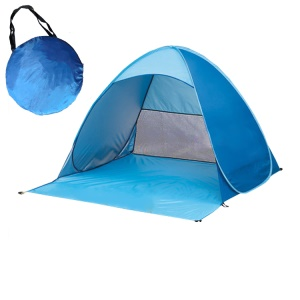 2-3 Person Automatic Pop Up Anti-UV Outdoor Camping Picnicing Beach Tent - Blue