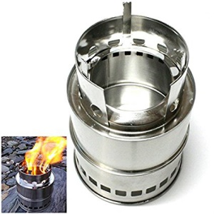 Portable Detachable Stainless Steel Cooking Stove Wood Solidified Alcohol Furnace for Outdoor Picnic BBQ
