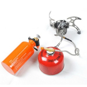 BRS-8 Portable Multi-functional Oil / Gas Stove with Fuel Bottle