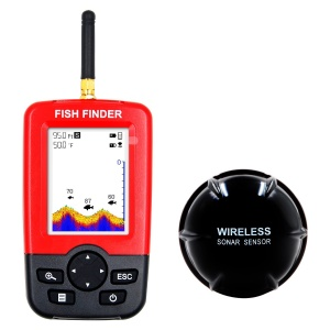 XJ-01 Wireless Sonar Sensor Bunte Dot Matrix LCD Display Fisch Finder