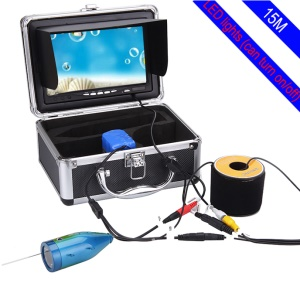 "7"" LCD HD 1000TVL 15m Underwater Fish Finder Video Camera System with Sunvisor - AU Plug"