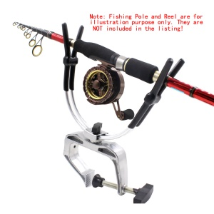 Aluminium Alloy Fishing Rod Holder Clamp Clip Fishing Rod Bracket
