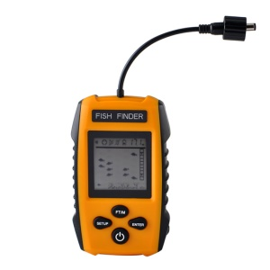 0.7-100M Depth 200KHz Fish Finder Sonar Sounder Alarm Transducer ABS Underwater Fish Finder