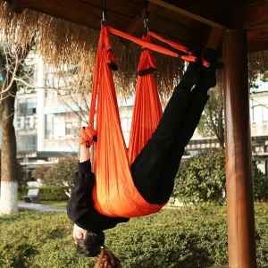 Yoga Flying Swing Anti-gravity Yoga Hammock Body Building Fitness Equipment - Orange