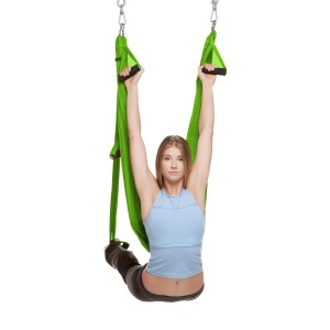 Antigravity Aerial Yoga Swing Trapeze Hammock Sling Body Building Tool - Green