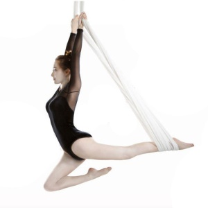 Elastic Anti-gravity Yoga Flying Swing Yoga Hammock Body Building Tool - White