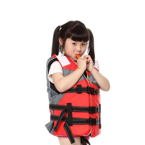AOTU AT9036-1 Children Fishing Water Sports Lifejacket with Adjustable Straps - Red