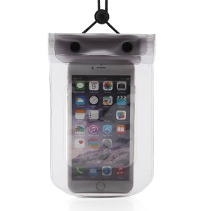 AOTU AT6634 Waterproof Noctilucent Bag Strap Phone Case for iPhone Huawei Samsung Etc. - Black