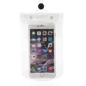 AOTU AT6634 Noctilucent Waterproof Bag Shell with Strap for iPhone Huawei Samsung Etc - White