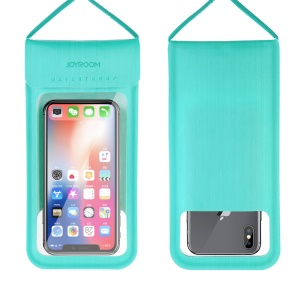 JOYROOM CY701 TPU + PU Leather Sport Mobile Phone Case Waterproof Smartphone Bag Case with Lanyard for iPhone Samsung Huawei etc. - Blue
