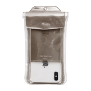 BASEUS Airbag Underwater Mobile Phone Waterproof Case, Size: 19.7x10.5cm - Grey