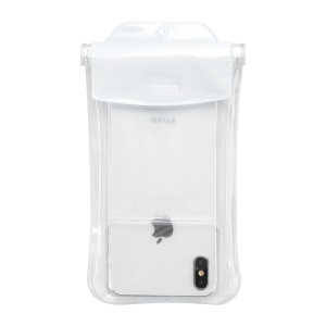 BASEUS Airbag Underwater Mobile Phone Waterproof Case, Size: 19.7x10.5cm - White