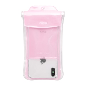 BASEUS Airbag Underwater Mobile Phone Waterproof Case, Size: 19.7x10.5cm - Pink