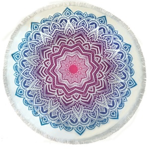 Blue and Purple Mandala