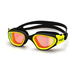 COPOZZ Unisex Anti-leak Highly Clear Swimming Goggles GOG-3720 - Yellow / Light Color Lens