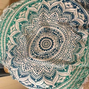 150cm Chiffon Beach Throw Towel Mandala Roundie Scarf Tablecloth - Style J