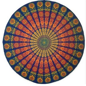 150cm Polyester Mandala Round Beach Towel Scarf Shawl Tapestry - Style B
