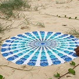 150cm Mandala Round Polyester Beach Throw Towel Scarf Tablecloth - Style C