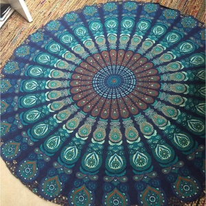 Polyester Mandala Roundie Beach Towel Shawl Tablecloth 150cm - Style D