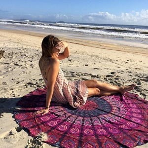 150cm Mandala Roundie Polyester Beach Towel Shawl Tapestry - Style E