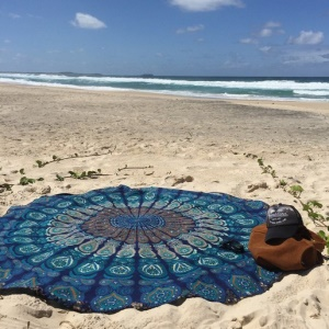 150cm Polyester Mandala Beach Towel Roundie Scarf Shawl Tapestry - Style K
