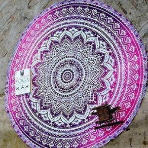 150cm Mandala Round Polyester Beach Towel Shawl Tablecloth Tapestry - Style N