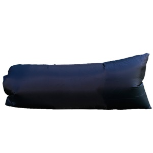 Outdoor/Indoor Inflatable Lounger Lazy Sofa Sleeping Air Bag - Black