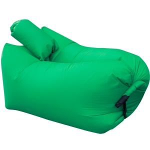 GOLDEN TAI Portable Air Inflation Couch Bag Sofa + Pillow for Beach Camping Rest - Green