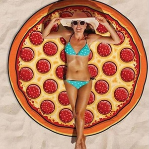 Roundie Pizza Summer Beach Towel Women Sun-proof Scarf Shawl