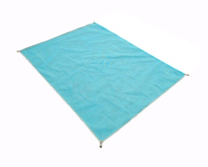 Portable Sand Proof Beach Blanket Mat for Beach Picnic Camping, Size: 200 x 200cm - Blue