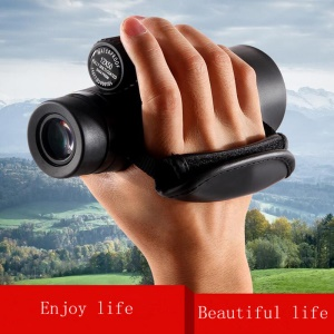 EK8510 10 x 42 Zoom Waterproof BAK4 Prism Phone Camera Monocular Telescope with Low-light-level Night Vision