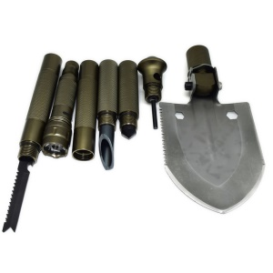 Multifunctional Emergency Survival Camping Shovel Kits for Freely Assembling