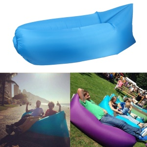 Inflatable Air Bag Air Sofa Couch for Beach Camping Rest - Blue