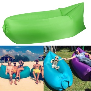 Inflatable Air Bag Air Sofa Couch for Beach Camping Rest - Green