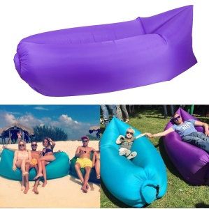 Inflatable Air Bag Air Sofa Couch for Beach Camping Rest - Purple