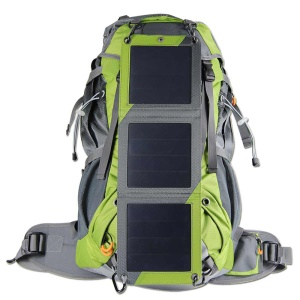 10W Solar Charging Panel Backpack Bag for Camping Hiking Outdoor Sports