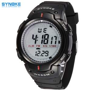 SYNOKE LED Digital Watch Top Brand Sport Watches Male Electronic Wrist Watch - Black