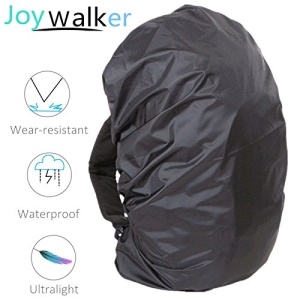 210D Nylon Outdoor Backpack Waterproof Cover - Black / Size: S (for 15-35L Backpack)
