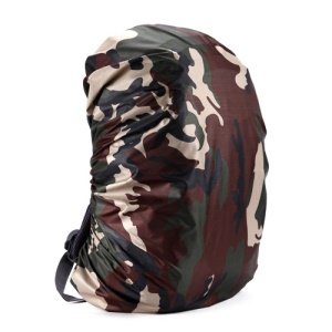 210D Nylon Backpack Waterproof Cover Outdoor Rain Bag Cover - Camouflage / Size: XL (for 65-70L Backpack)