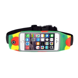4.7 inch Cell Phone Case Outdoor Sports Waist Bag with Transparent Touch Screen - Green / Red