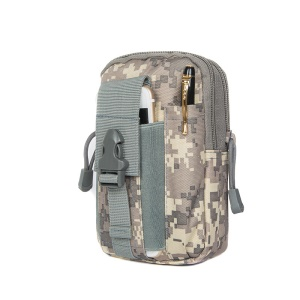 Waist Pack EDC Utility Gadget Bag with Cell Phone Holster Outdoor Tactical Molle Pouch - Grey Mosaic Camouflage