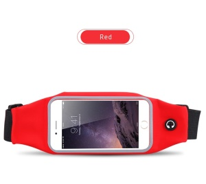 Waterproof Mobile Phone Case for iPhone Huawei Samsung Etc Quick View Screen Smartphone Bag with Earphone Jack - Red
