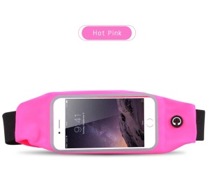 Sport Mobile Phone Case Waterproof Smartphone Bag with Flexible Belt for iPhone Huawei Samsung Etc - Rose