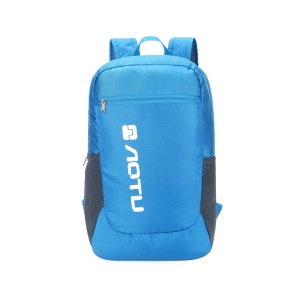 AOTU Foldable Traveling Backpack Rhombus Pattern 420D Nylon Lightweight Backpack (AT6908) - Blue