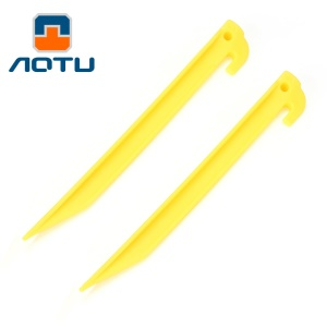 AOTU AT6539 9.0-inch Plastic Ground Nail Plastic Nail Tent Stake for Outdoor Camping