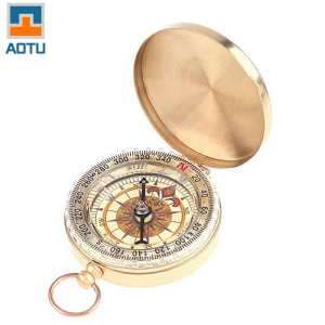 AOTU AT7597 Classic Pocket Watch Style Bronzing Antique Camping Compass
