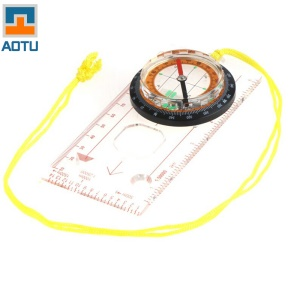 AOTU Multi-function Compass with Scale Ruler for Adventure and Outdoor Sports