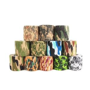 2Pcs/Set Camouflage Pattern Tape Self-adhesive Plaster Self-adhesive Tape - Random Color