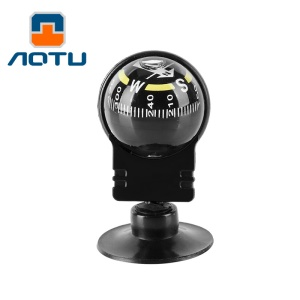 AOTU AT7623 Vehicle Navigation Ball Shaped Car Compass with Suction Cup